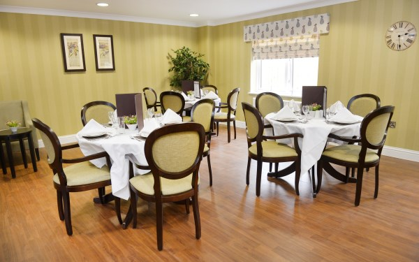 Dining Room Brunel House Care Home Lounge