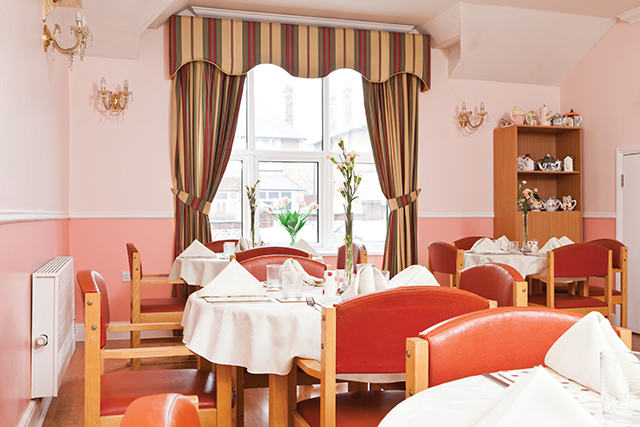Nellsar homes lukestone emi nursing home in maidstone kent for Nursing home dining room ideas