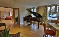 Piano in dining area